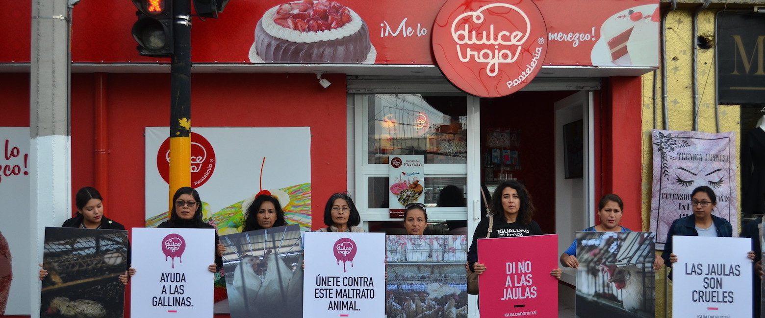 Protesta ante Dulce Rojo en Toluca