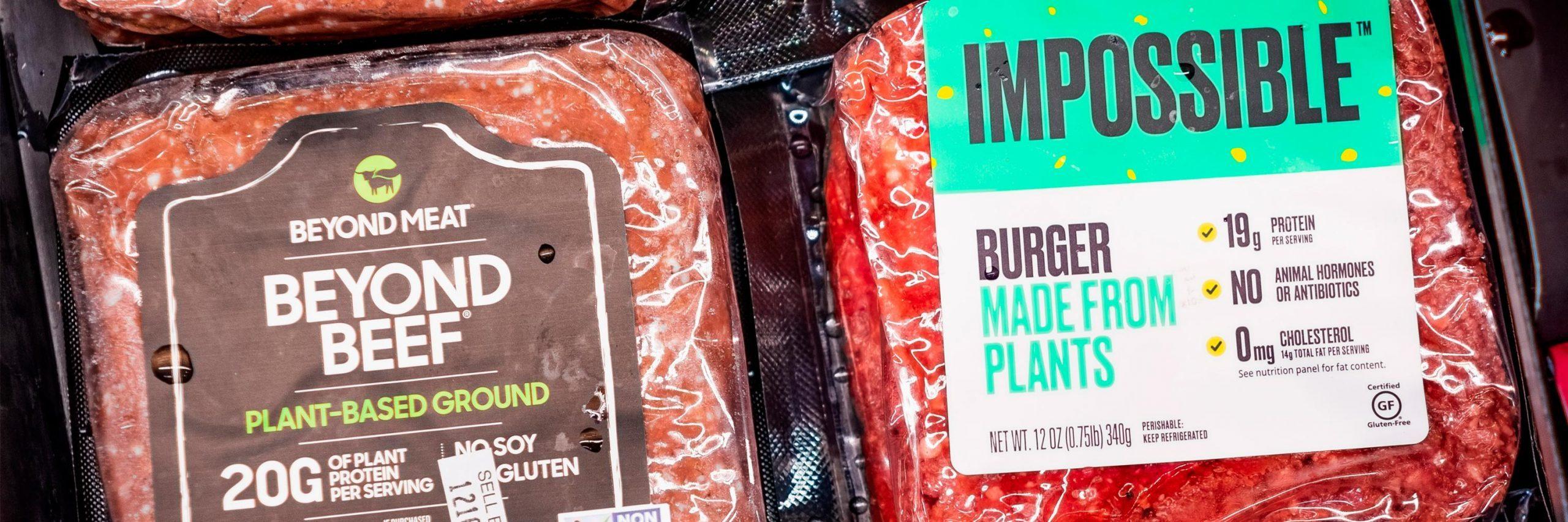 Carne hecha a base de plantas
